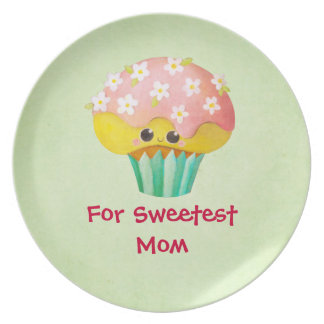 Mother s Day Lovely Cupcake -custom txt- Party Plates