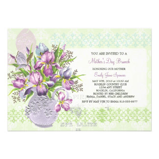 Mother s Day Lunch Reunion Elegant Floral Invite