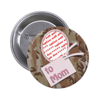 Mother s Day Memento Photo Frame Pinback Button