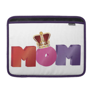 Mother s Day MOM with Jewel Crown Rickshaw Sleeve MacBook Sleeve