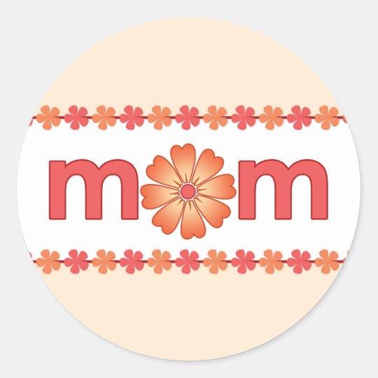 Mother's Day Orange Spring Flowers Sticker