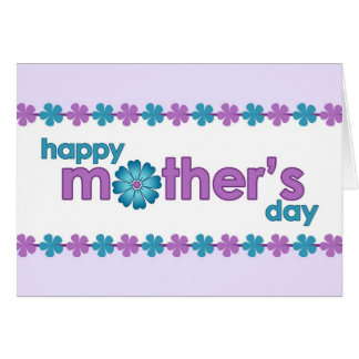 Mother's Day Purple Spring Flowers Greeting Card
