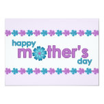 "Mother's Day Purple Spring Flowers Invitation 5"" X 7"" Invitation Card"