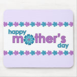 Mother's Day Purple Spring Flowers Mousepad