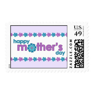 Mother's Day Purple Spring Flowers Postage Stamp