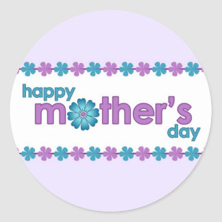 Mother's Day Purple Spring Flowers Sticker