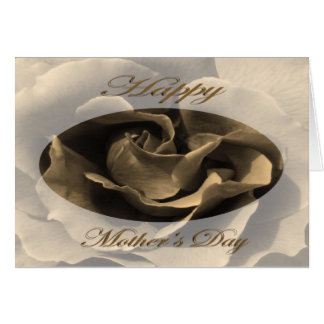 Mother's Day Rose in Sepia Card