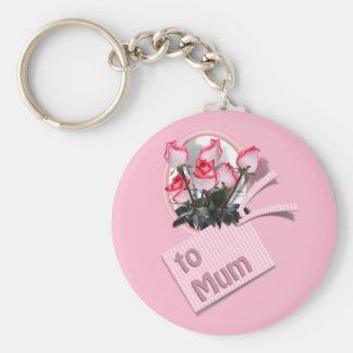 Mother s Day Roses For Mum on Pink Keychain