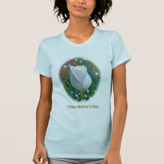Mother s Day White Rose Cards Gifts T Shirts