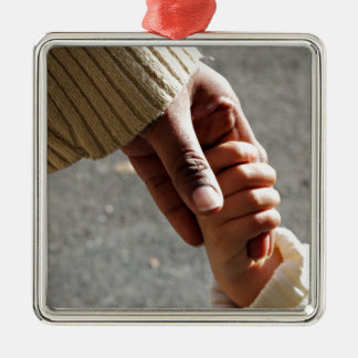 Mother ' s love square metal christmas ornament