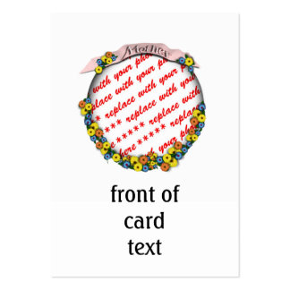 """Mother"" Sash Floral Photo Frame Large Business Cards (Pack Of 100)"