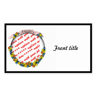 'Mother' Sash Floral Photo Frame Double-Sided Standard Business Cards (Pack Of 100)