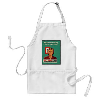 Mother Saying Don't Waste Gasoline Adult Apron