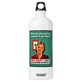 Mother Saying Don't Waste Gasoline Aluminum Water Bottle