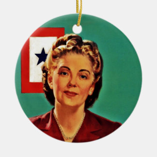 Mother Saying Don't Waste Gasoline Ceramic Ornament