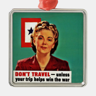 Mother Saying Don't Waste Gasoline Metal Ornament