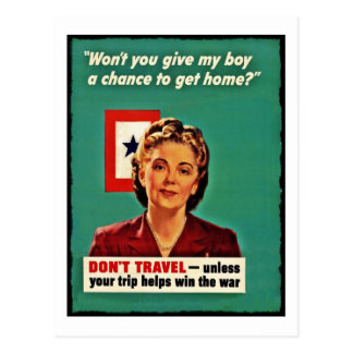 Mother Saying Don't Waste Gasoline Postcard