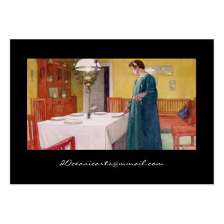 Mother Setting Dinner Table Large Business Cards (Pack Of 100)