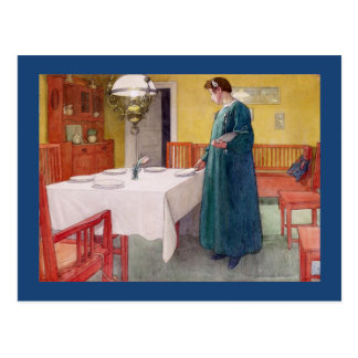 Mother Setting the Table Postcard