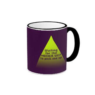 Mother Ship Ringer Coffee Mug