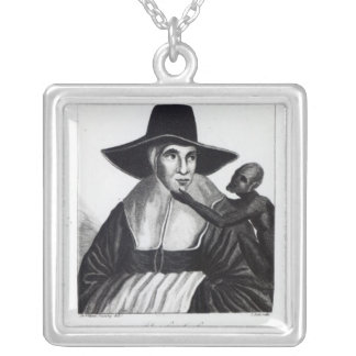 Mother Shipton, engraved by John Scott, 1804 Silver Plated Necklace