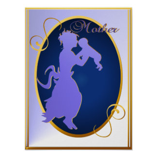 Mother-silhouette Poster