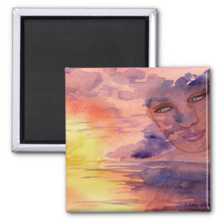 Mother Sky 2 Inch Square Magnet