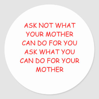 mother classic round sticker