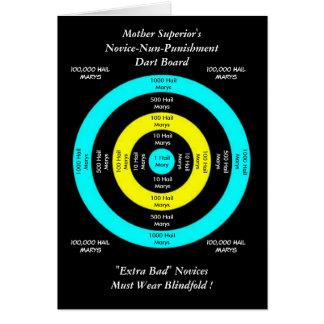 Mother Superior's Novice-Nun-Punishment Dart Board Card