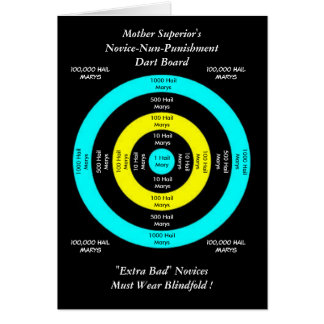 Mother Superior's Novice-Nun-Punishment Dart Board Stationery Note Card