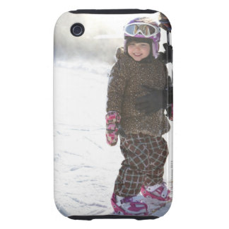 Mother Teaching Daughter To Snowboard iPhone 3 Tough Case