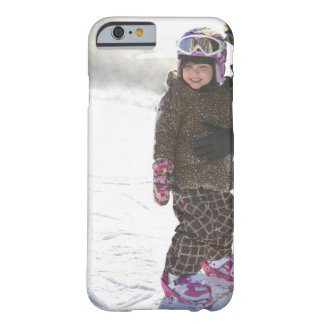 Mother Teaching Daughter To Snowboard iPhone 6 Case