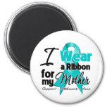 Mother - Teal Awareness Ribbon 2 Inch Round Magnet