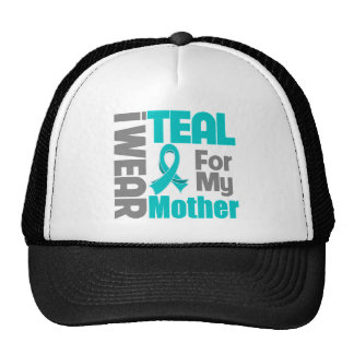 Mother - Teal Ribbon Ovarian Cancer Support Trucker Hat