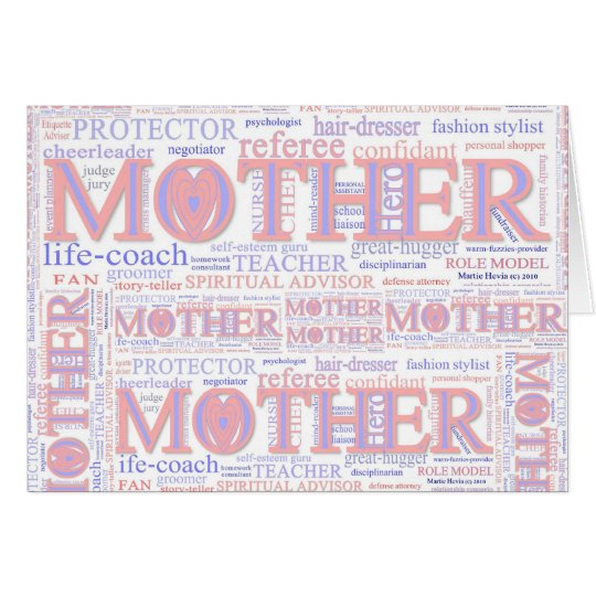 MOTHER: The many roles of a mother - CustomizeCard Card