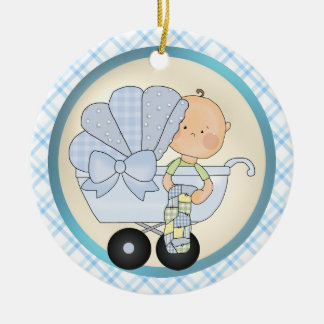 Mother To Be Cartoon Boy Ornament