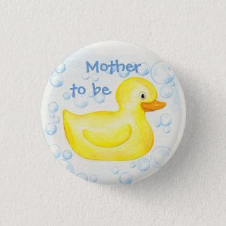 Mother to be: Rubber Ducky button pin