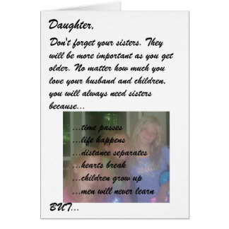 Mother to Daughter Card