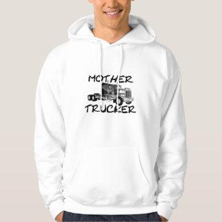 MOTHER TRUCKER - BLACK & WHITE HOODIE