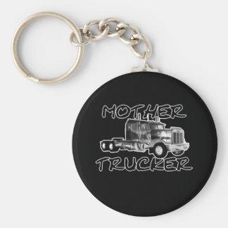 MOTHER TRUCKER - BLACK & WHITE KEYCHAIN