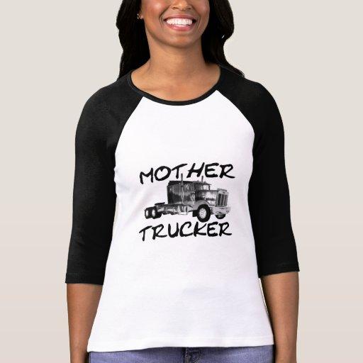MOTHER TRUCKER - BLACK & WHITE T SHIRTS