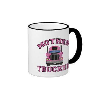 Mother Trucker Ringer Coffee Mug