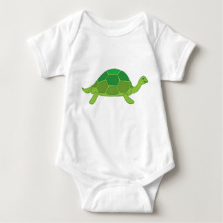 Mother Turtle and five little turtles Baby Bodysuit