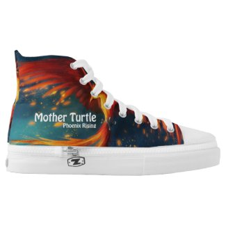 Mother Turtle Phoenix Hi Tops Printed Shoes