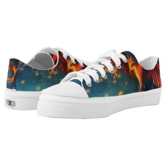 Mother Turtle Phoenix Rising Lo Tops Printed Shoes