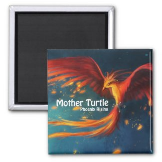 Mother Turtle Phoenix Rising Magnet