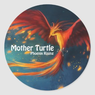 Mother Turtle Phoenix Rising Sticker