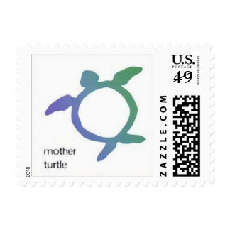Mother Turtle Postage Stamp