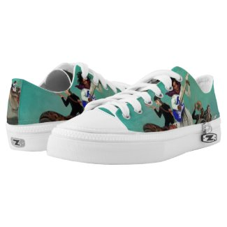 Mother Turtle Sea Band Lo Top Printed Shoes