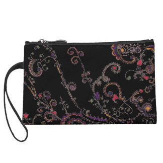 Mother Universe Tattoo Design Black Clutch Wristlet Clutches